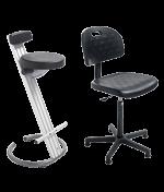 Asiento ergonómico y asiento de pie